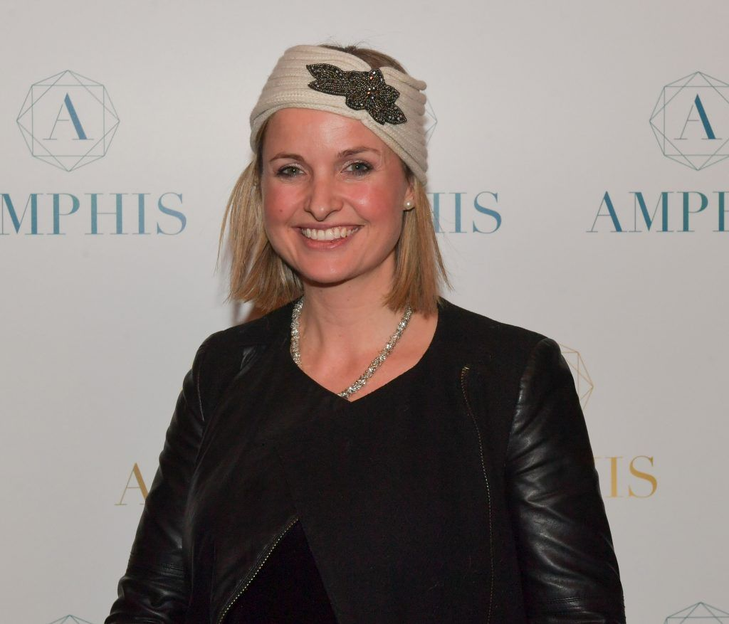 Siobhan O'Connor at the launch of Amphis beauty, an Irish luxury range of marine nutricosmetics which have been scientifically developed to offer a more comprehensive and holistic approach to maintaining skin, bone health, hair and nails. Pictures: Jerry McCarthy