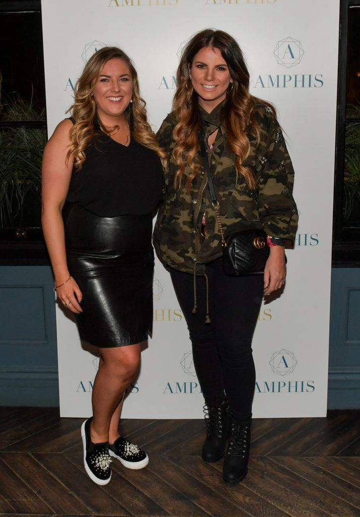 Megan Kessie and Ciara Maher at the launch of Amphis beauty, an Irish luxury range of marine nutricosmetics which have been scientifically developed to offer a more comprehensive and holistic approach to maintaining skin, bone health, hair and nails. Pictures: Jerry McCarthy