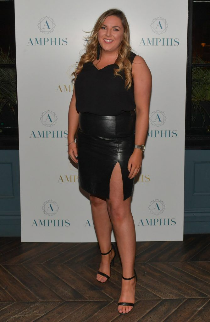Megan Kessie at the launch of Amphis beauty, an Irish luxury range of marine nutricosmetics which have been scientifically developed to offer a more comprehensive and holistic approach to maintaining skin, bone health, hair and nails. Pictures: Jerry McCarthy