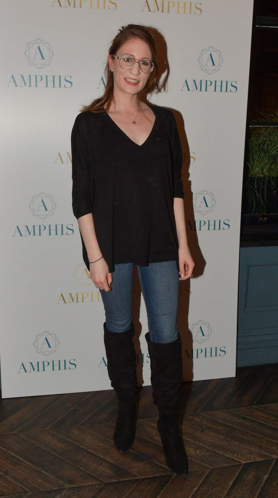 Miriam Burke at the launch of Amphis beauty, an Irish luxury range of marine nutricosmetics which have been scientifically developed to offer a more comprehensive and holistic approach to maintaining skin, bone health, hair and nails. Pictures: Jerry McCarthy