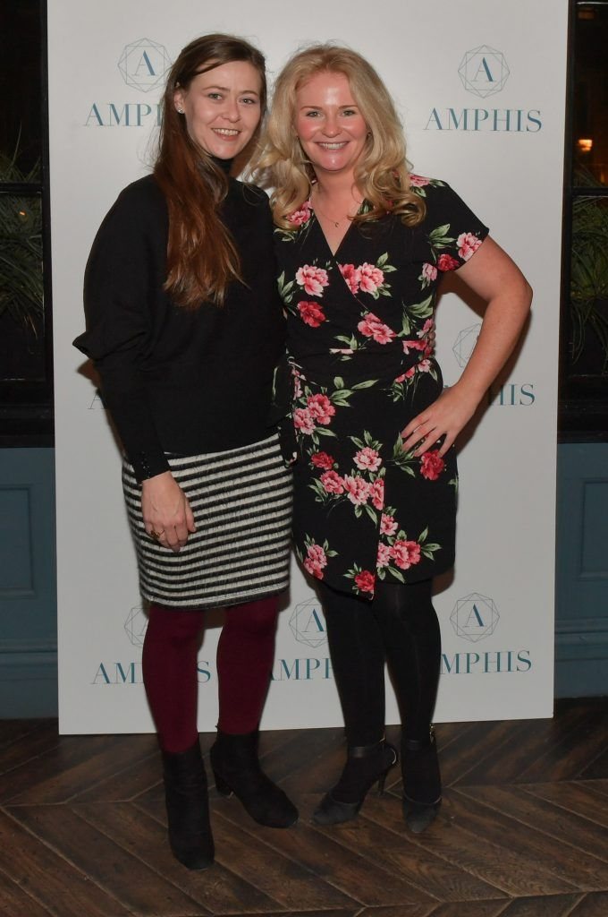Aisling Martin and Fiona Martin at the launch of Amphis beauty, an Irish luxury range of marine nutricosmetics which have been scientifically developed to offer a more comprehensive and holistic approach to maintaining skin, bone health, hair and nails. Pictures: Jerry McCarthy
