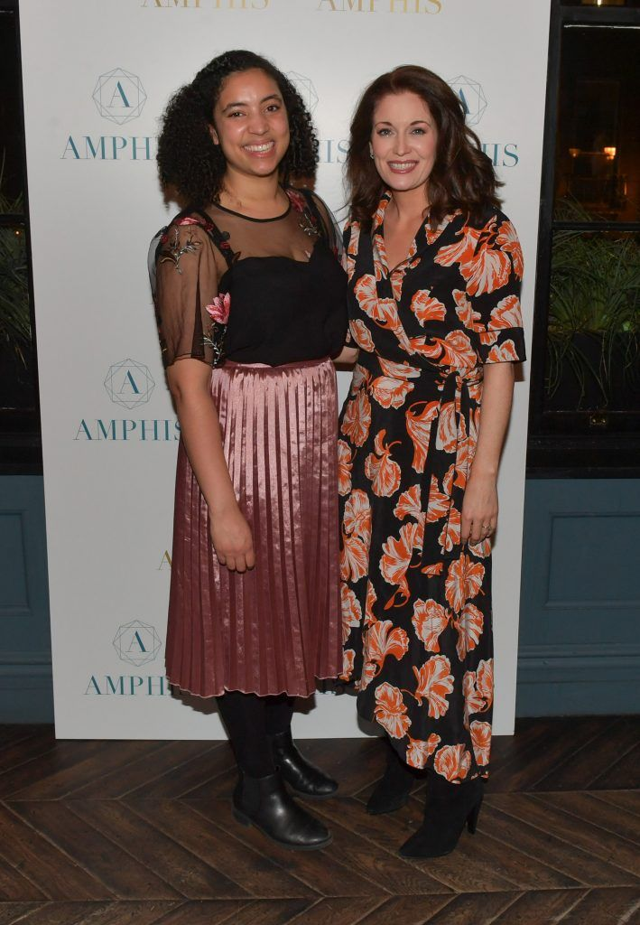 Aine Molloy and Roz Martin at the launch of Amphis beauty, an Irish luxury range of marine nutricosmetics which have been scientifically developed to offer a more comprehensive and holistic approach to maintaining skin, bone health, hair and nails. Pictures: Jerry McCarthy