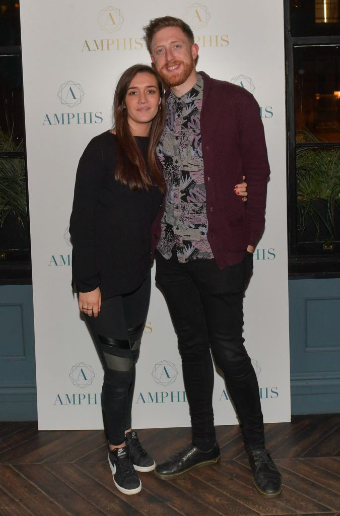 Laura Kane and Seamus Clancy  at the launch of Amphis beauty, an Irish luxury range of marine nutricosmetics which have been scientifically developed to offer a more comprehensive and holistic approach to maintaining skin, bone health, hair and nails. Pictures: Jerry McCarthy