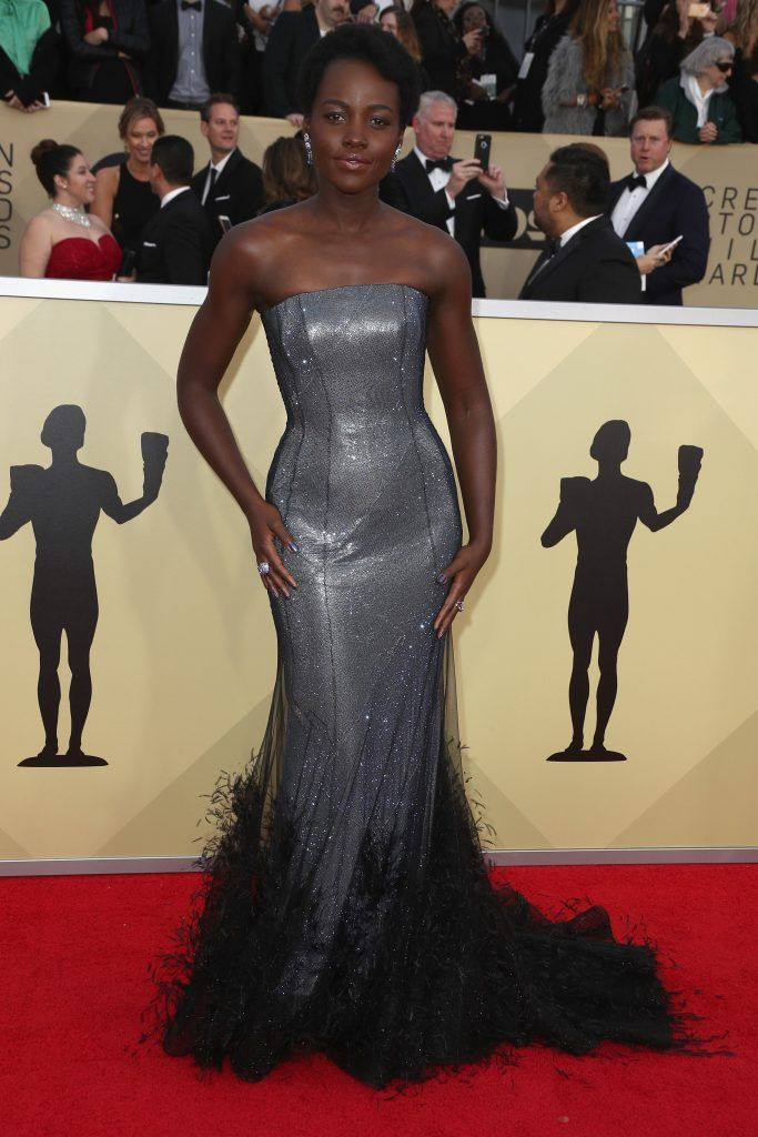 Actor Lupita Nyong'o attends the 24th Annual Screen Actors Guild Awards at The Shrine Auditorium on January 21, 2018 in Los Angeles, California. 27522_017  (Photo by Frederick M. Brown/Getty Images)
