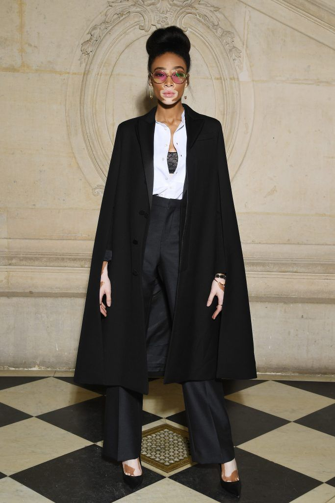 Winnie Harlow attends the Christian Dior Haute Couture Spring Summer 2018 show as part of Paris Fashion Week on January 22, 2018 in Paris, France.  (Photo by Pascal Le Segretain/Getty Images for Christian Dior)