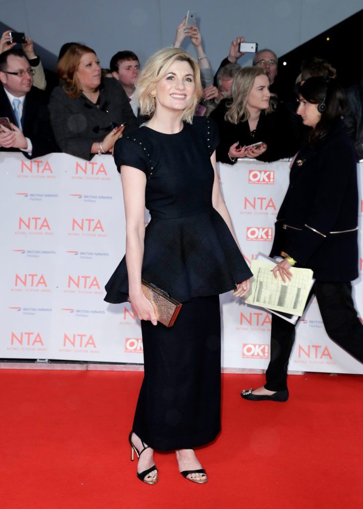 Jodie Whittaker attends the National Television Awards 2018 at the O2 Arena on January 23, 2018 in London, England.  (Photo by John Phillips/Getty Images)