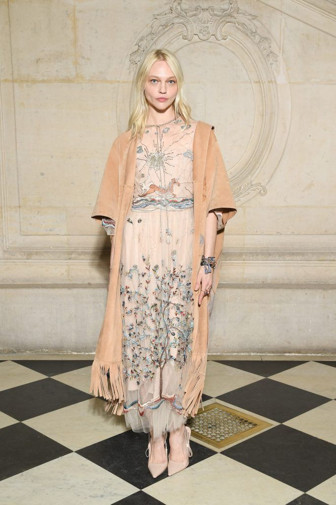 Sasha Pivovarova attends the Christian Dior Haute Couture Spring Summer 2018 show as part of Paris Fashion Week on January 22, 2018 in Paris, France.  (Photo by Pascal Le Segretain/Getty Images for Christian Dior)