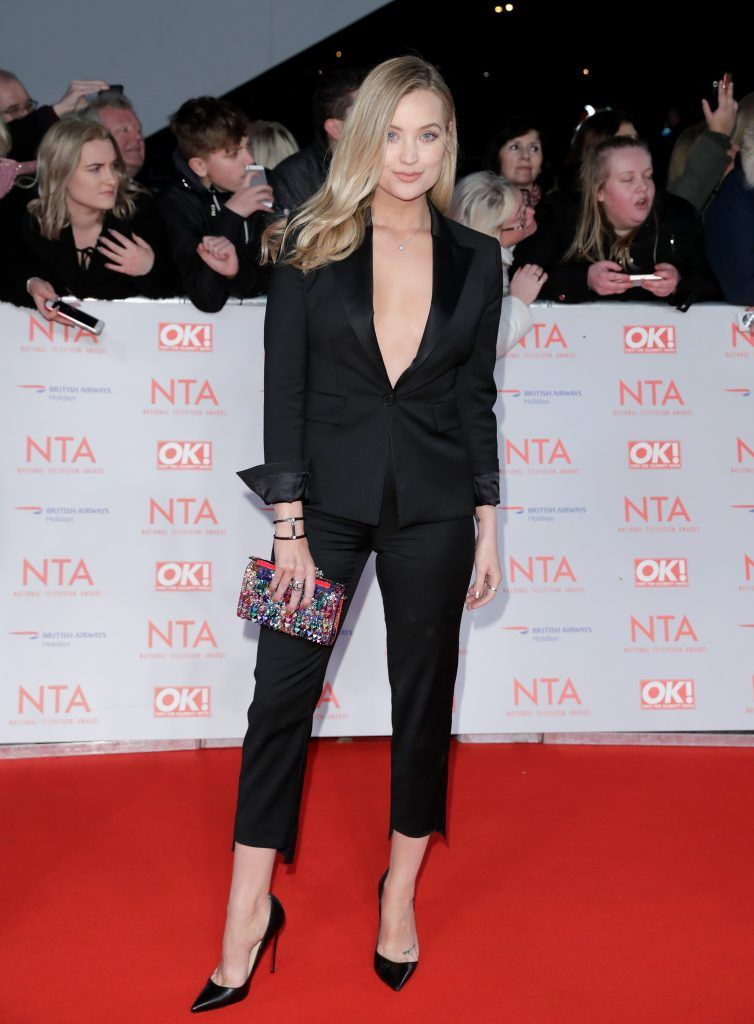 Laura Whitmore attends the National Television Awards 2018 at the O2 Arena on January 23, 2018 in London, England.  (Photo by John Phillips/Getty Images)