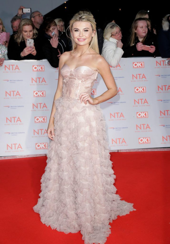 Georgia Toffolo attends the National Television Awards 2018 at the O2 Arena on January 23, 2018 in London, England.  (Photo by John Phillips/Getty Images)