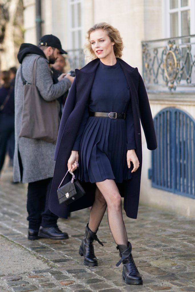 Eva Herzigova attends the Christian Dior Haute Couture Spring Summer 2018 show as part of Paris Fashion Week on January 22, 2018 in Paris, France.  (Photo by Edward Berthelot/Getty Images for Christian Dior)