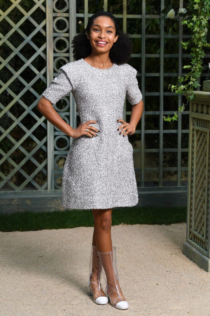Yara Shahidi attends the Chanel Haute Couture Spring Summer 2018 show as part of Paris Fashion Week on January 23, 2018 in Paris, France.  (Photo by Pascal Le Segretain/Getty Images for Chanel)