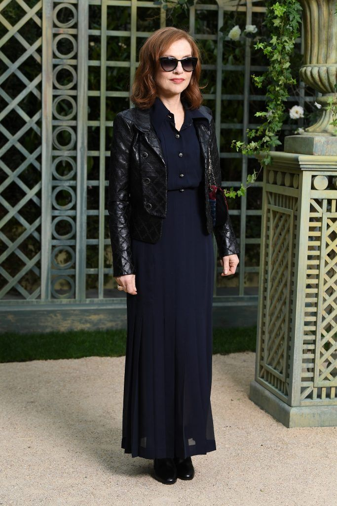 Isabelle Huppert attends the Chanel Haute Couture Spring Summer 2018 show as part of Paris Fashion Week on January 23, 2018 in Paris, France.  (Photo by Pascal Le Segretain/Getty Images for Chanel)