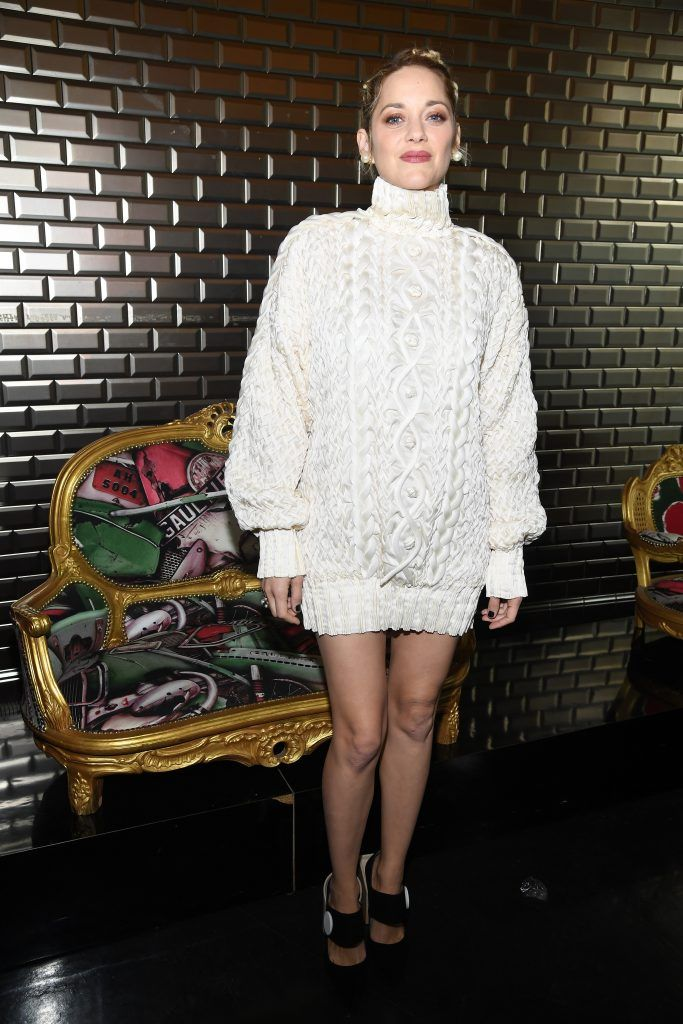 Marion Cotillard attends the Jean-Paul Gaultier Haute Couture Spring Summer 2018 show as part of Paris Fashion Week on January 24, 2018 in Paris, France.  (Photo by Pascal Le Segretain/Getty Images)