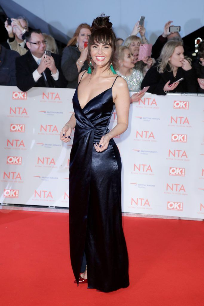 Jennifer Metcalfe attends the National Television Awards 2018 at the O2 Arena on January 23, 2018 in London, England.  (Photo by John Phillips/Getty Images)