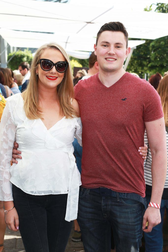 Aoife Bonner, Niall Kirwin at the Gin and Tonic Fest 2018 launch at Urban Brewing (23rd June)