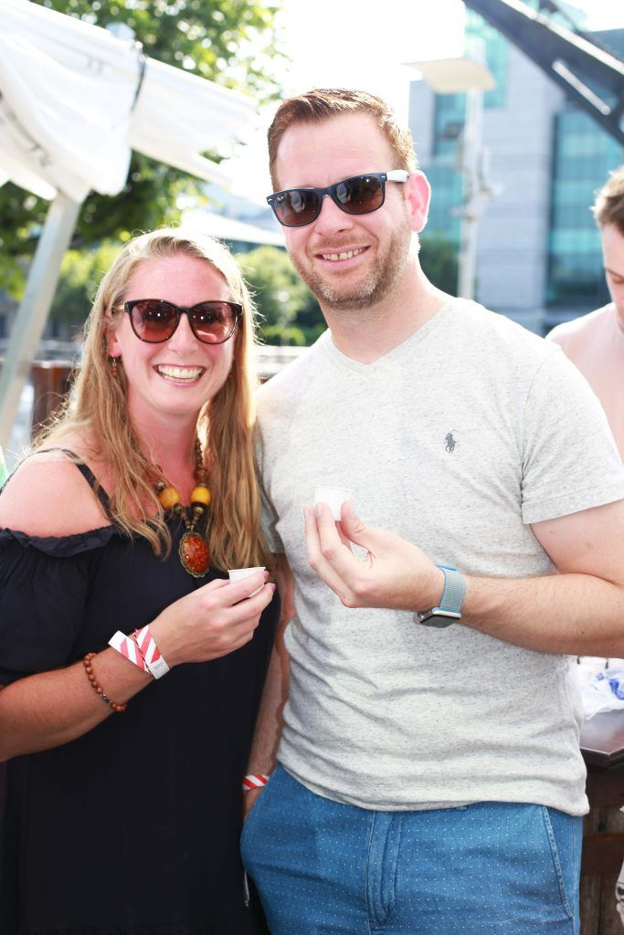 Karen Carey, Ger Carey at the Gin and Tonic Fest 2018 launch at Urban Brewing (23rd June)