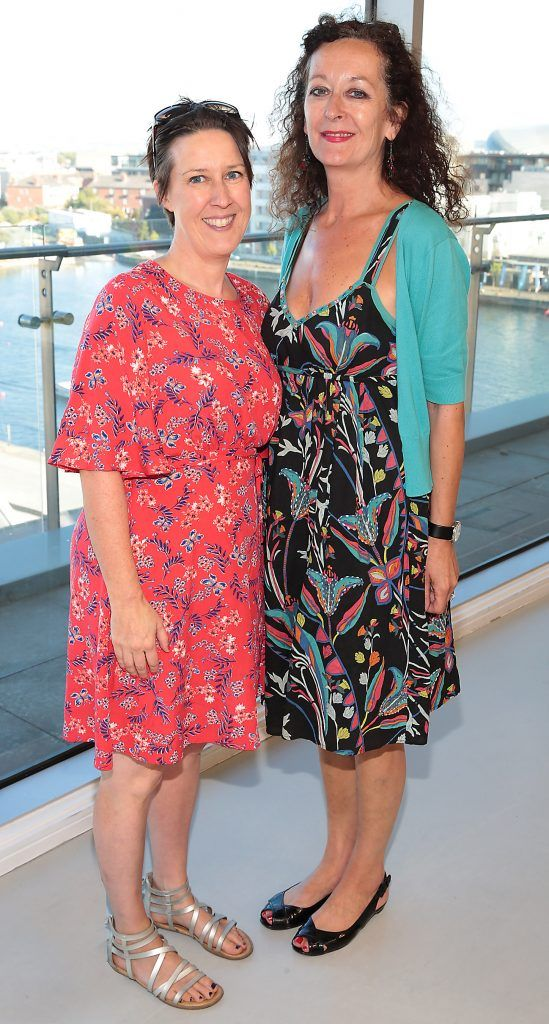 Jeni Ringland and Linda Dagge at the 26th GAZE Film Festival programme launch at Hanover Quay, Dublin. Picture: Brian McEvoy