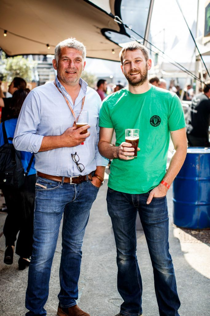 Maurice kettyle and Peter Simpson pictured at GUINNESS X MEATOPIA at the Open Gate Brewery. Picture: Andres Poveda