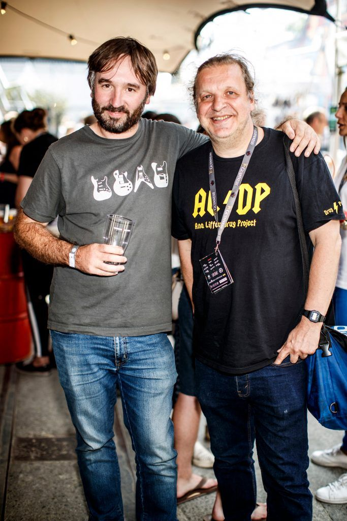 Graham Keogh and Stuart Clark pictured at GUINNESS X MEATOPIA at the Open Gate Brewery. Picture: Andres Poveda