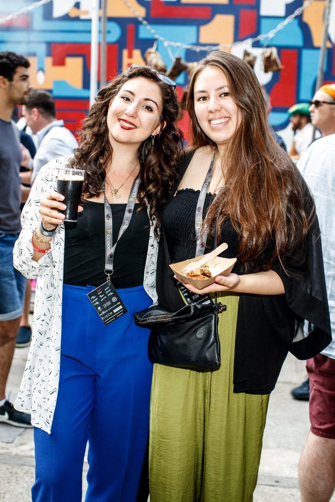 Anna Angelinova and Siobhan Barrett pictured at GUINNESS X MEATOPIA at the Open Gate Brewery. Picture: Andres Poveda