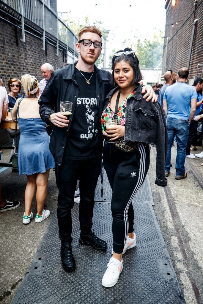 Mango and Tara Stewart pictured at GUINNESS X MEATOPIA at the Open Gate Brewery. Picture: Andres Poveda