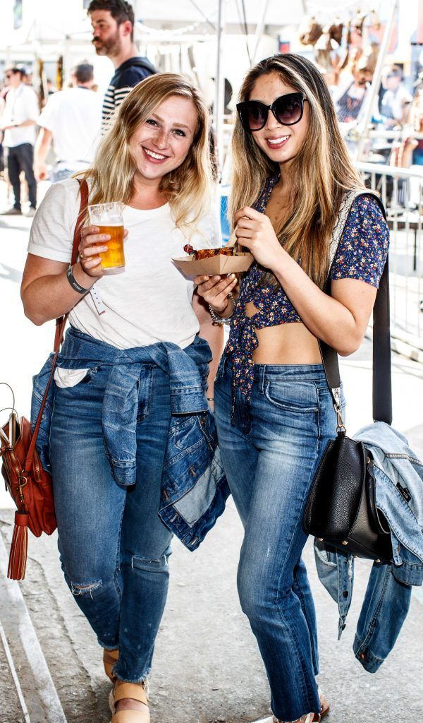 Liza Herlands and Mara Alindogan pictured at GUINNESS X MEATOPIA at the Open Gate Brewery. Picture: Andres Poveda