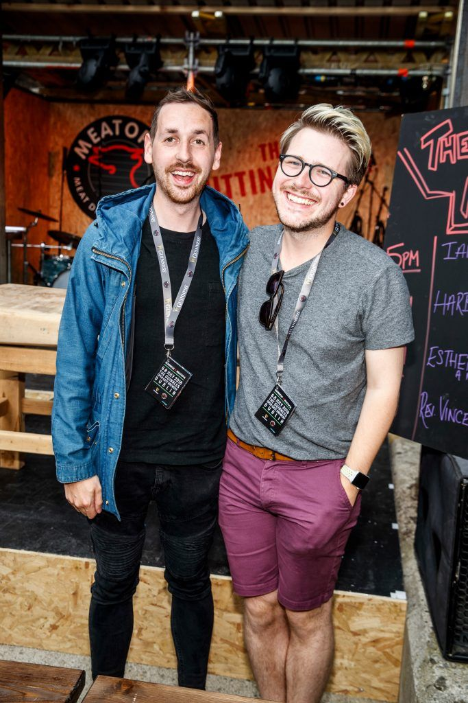 Patrick Hanlon and Russel Alford pictured at GUINNESS X MEATOPIA at the Open Gate Brewery. Picture: Andres Poveda