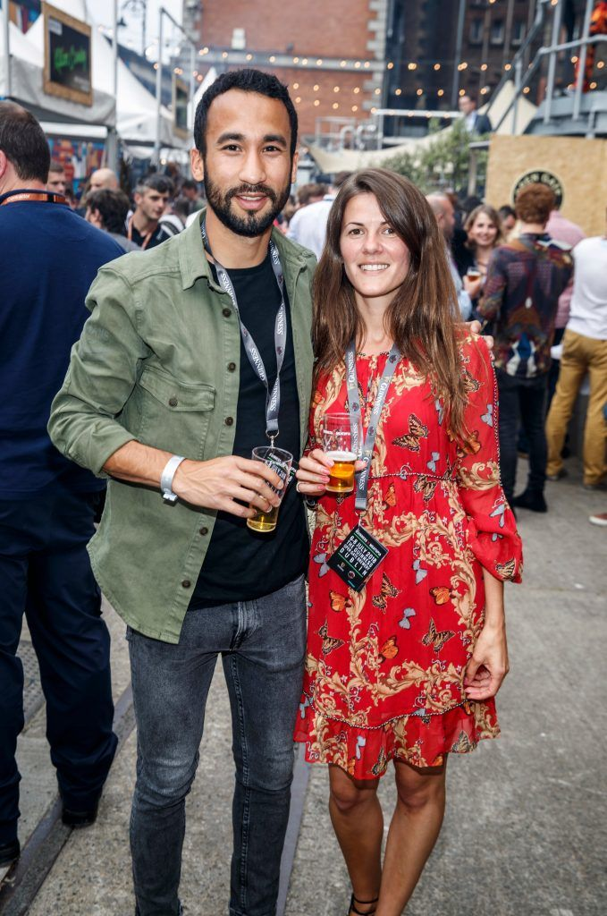 Greg Dalleau and Anna Taramenko pictured at GUINNESS X MEATOPIA at the Open Gate Brewery. Picture: Andres Poveda