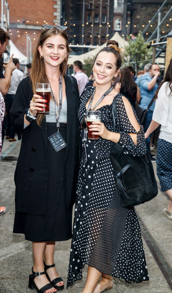 Caoimhe Sweeney and Sarah Clayton-Lea pictured at GUINNESS X MEATOPIA at the Open Gate Brewery. Picture: Andres Poveda