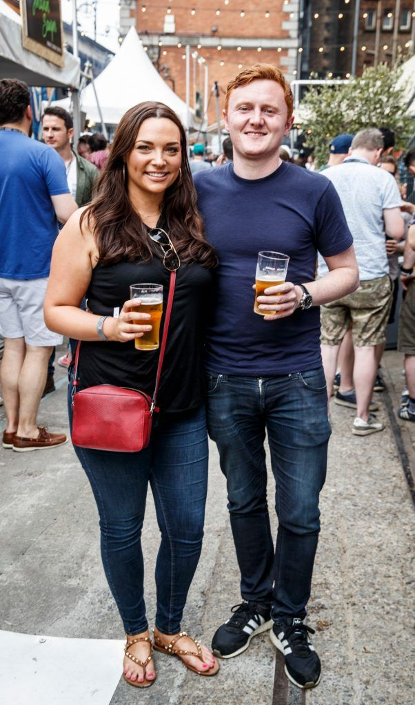 Caitlin McBride and Guy Sinott pictured at GUINNESS X MEATOPIA at the Open Gate Brewery. Picture: Andres Poveda
