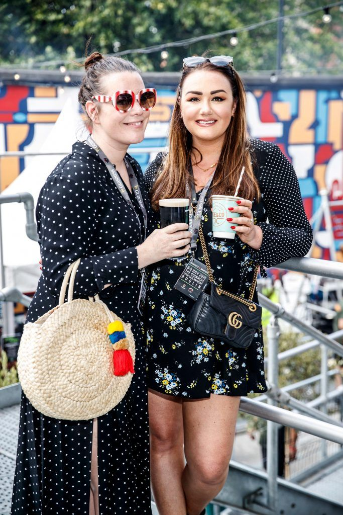 Corina Gaffey and Vicki Notaro pictured at GUINNESS X MEATOPIA at the Open Gate Brewery. Picture: Andres Poveda