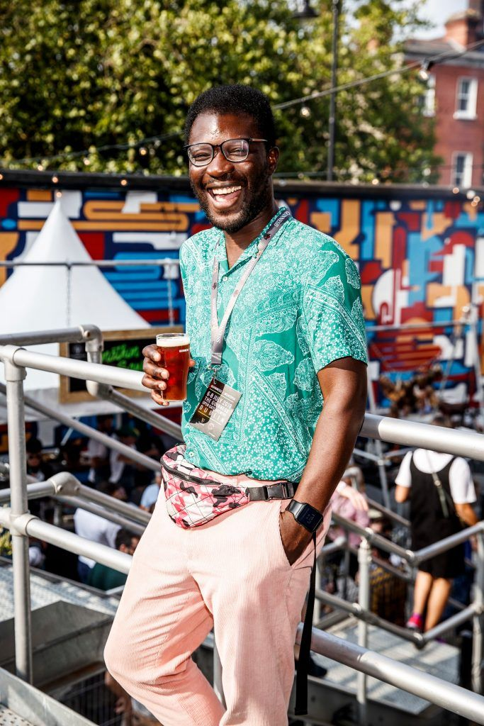 Timi Ogunyemi pictured at GUINNESS X MEATOPIA at the Open Gate Brewery. Picture: Andres Poveda