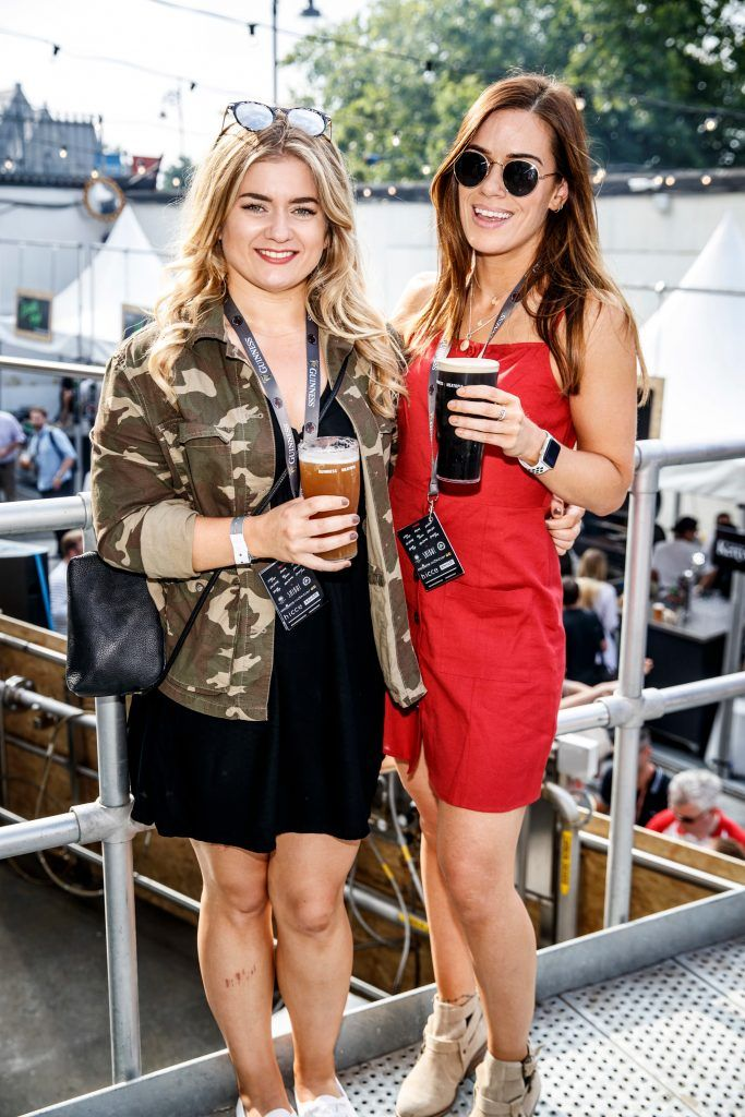 Ali McKenna and Vicki McGrath pictured at GUINNESS X MEATOPIA at the Open Gate Brewery. Picture: Andres Poveda