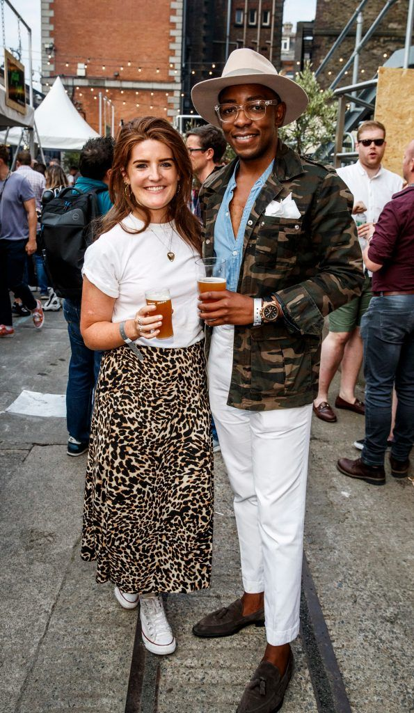 Nicki Kelly and Lawson Mpame pictured at GUINNESS X MEATOPIA at the Open Gate Brewery. Picture: Andres Poveda