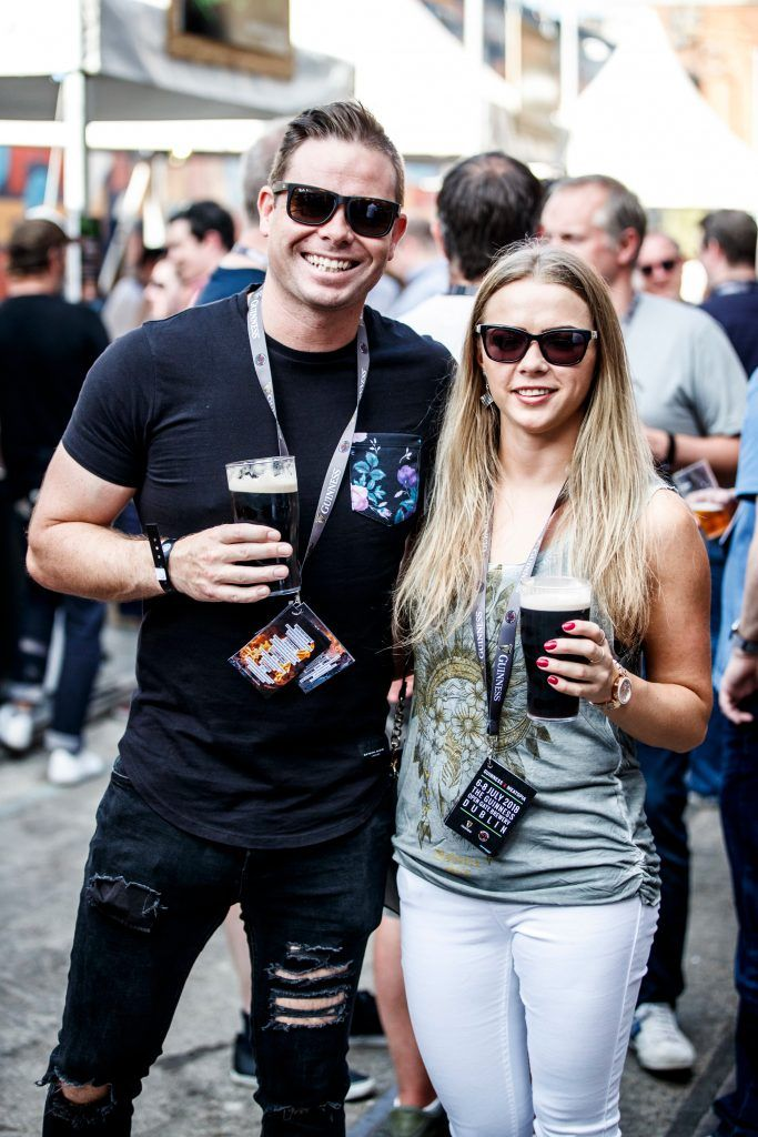 Keith Wheen and Monica Petkute pictured at GUINNESS X MEATOPIA at the Open Gate Brewery. Picture: Andres Poveda
