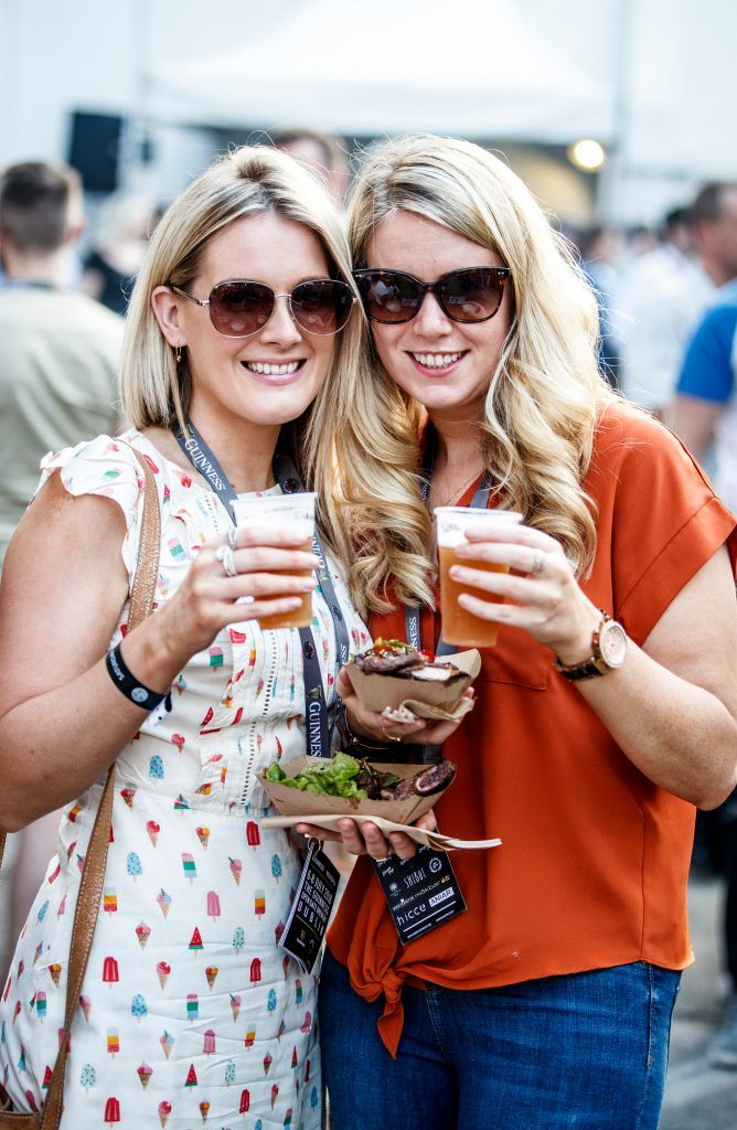 Francis Morris and Tara Cunningham pictured at GUINNESS X MEATOPIA at the Open Gate Brewery. Picture: Andres Poveda