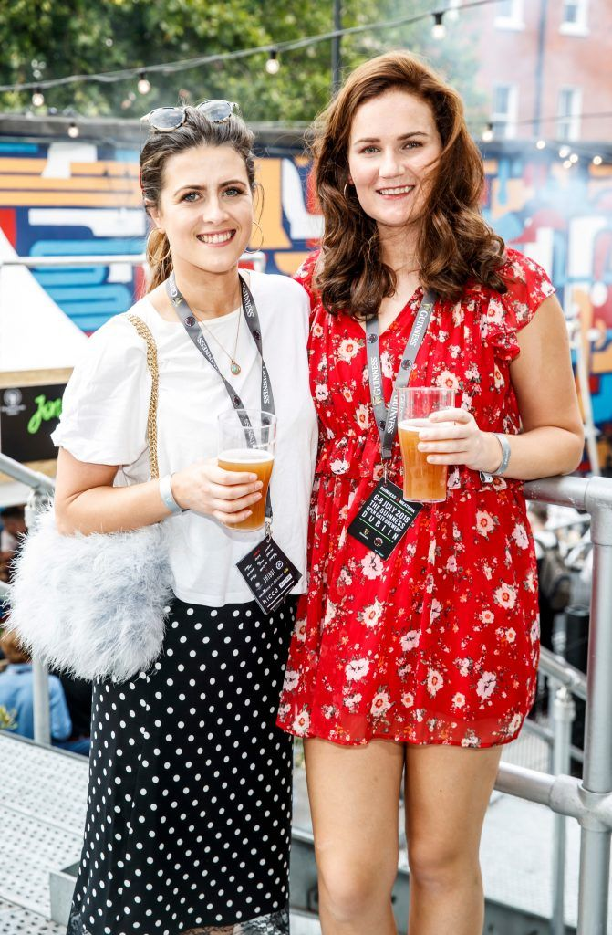 Emer Nevin and Eilis O'Shea pictured at GUINNESS X MEATOPIA at the Open Gate Brewery. Picture: Andres Poveda