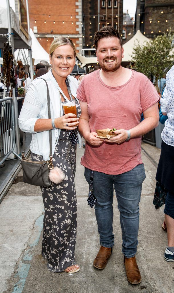Catriona O'Connor and Thomas Cross pictured at GUINNESS X MEATOPIA at the Open Gate Brewery. Picture: Andres Poveda