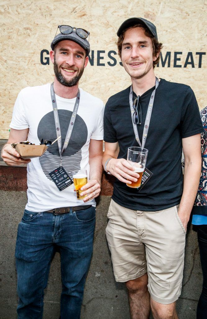 Dan Murphy and Jamie O'Toole pictured at GUINNESS X MEATOPIA at the Open Gate Brewery. Picture: Andres Poveda