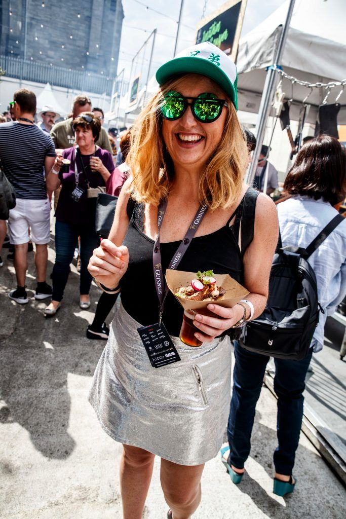 Lynda Burke pictured at GUINNESS X MEATOPIA at the Open Gate Brewery. Picture: Andres Poveda