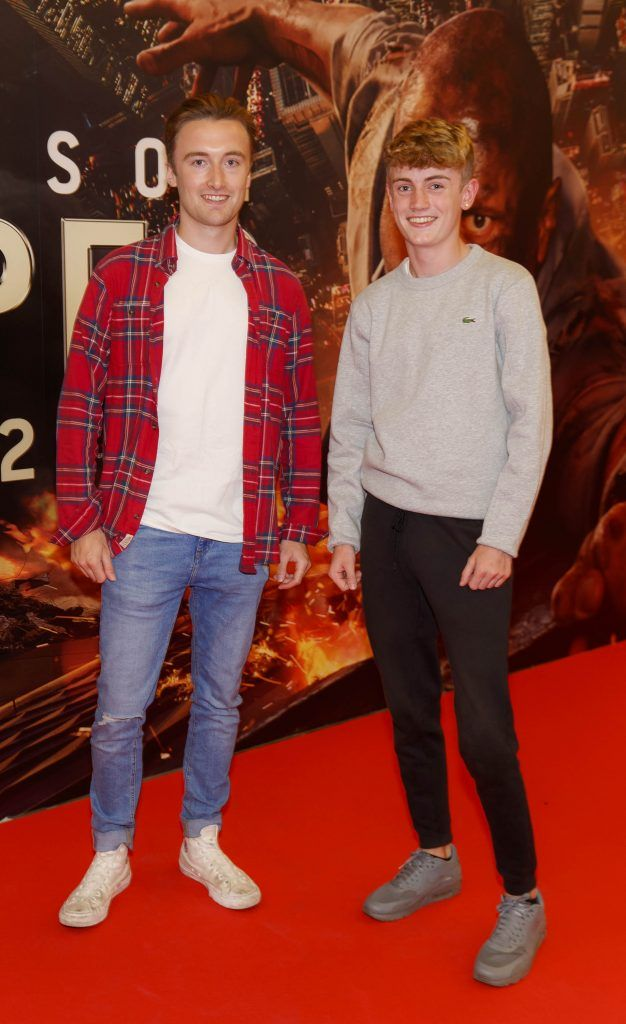Darragh Doyle and Ronan Doyle pictured at the Universal Pictures special preview screening of SKYSCRAPER, at Odeon Point Square, Dublin. Picture: Andres Poveda