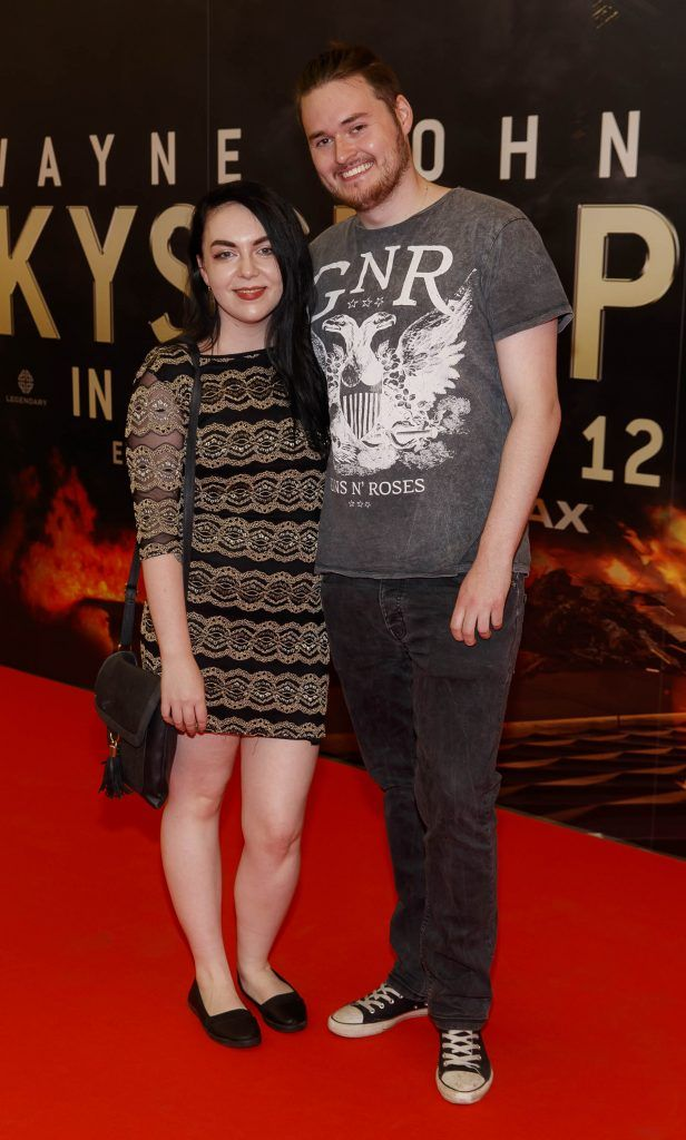 Sinead Connors and James Byrne pictured at the Universal Pictures special preview screening of SKYSCRAPER, at Odeon Point Square, Dublin. Picture: Andres Poveda