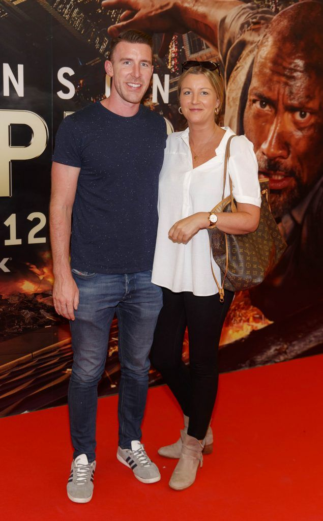 Mark Loftus and Suzy McQuaid pictured at the Universal Pictures special preview screening of SKYSCRAPER, at Odeon Point Square, Dublin. Picture: Andres Poveda