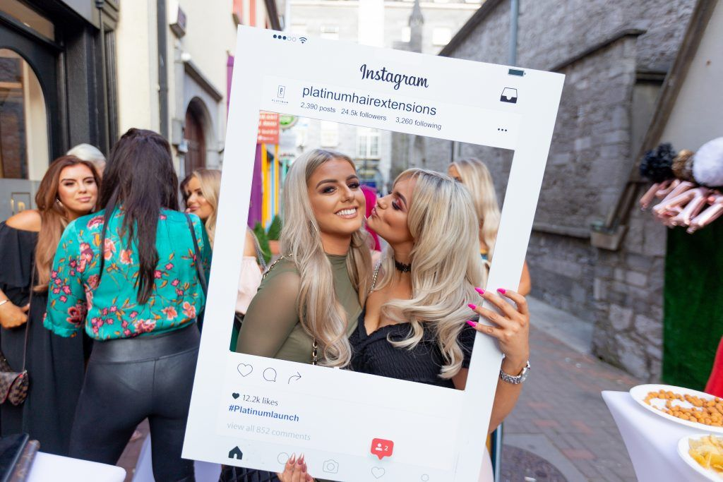 Aoife Lyons and Katelyn O'Brian pictured as Platinum Hair Extensions expands to a new location in Galway City. Photo: Peter Regazzoli