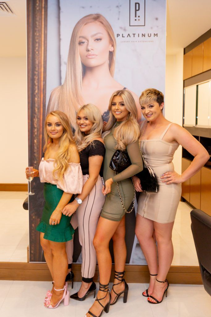 Becky, Aoife, Katelyn and Katie pictured as Platinum Hair Extensions expands to a new location in Galway City. Photo: Peter Regazzoli