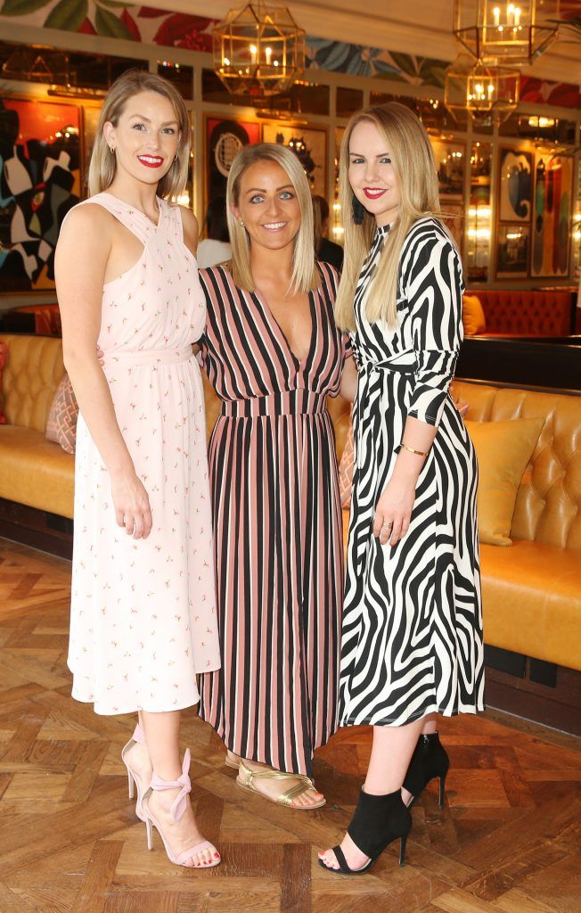 Lia Stokes, Aislinn O Toole and Katie Allen  pictured at The Ivy Dawson Street's VIP Preview Evening on Monday, 16 July. Photo: Leon Farrell