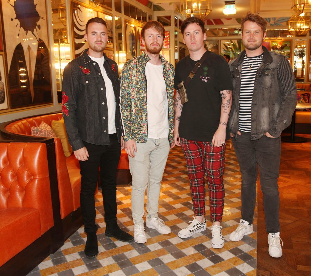 Band members from Picture This photographed at The Ivy Dawson Street's VIP Preview Evening on Monday, 16 July. Photo: Leon Farrell