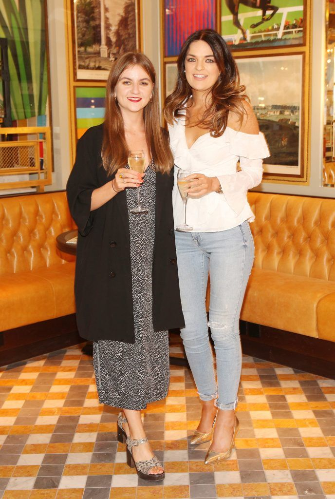 Caoimhe Sweeney and Katie Hughes pictured at The Ivy Dawson Street's VIP Preview Evening on Monday, 16 July. Photo: Leon Farrell