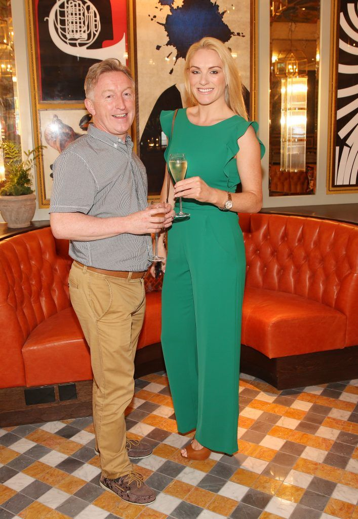 Arthur O Brien and Hanley Elliott  pictured at The Ivy Dawson Street's VIP Preview Evening on Monday, 16 July. Photo: Leon Farrell