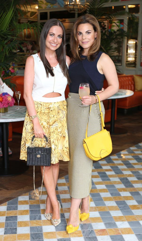Emily O Donnell and Avila Lipsett pictured at The Ivy Dawson Street's VIP Preview Evening on Monday, 16 July. Photo: Leon Farrell